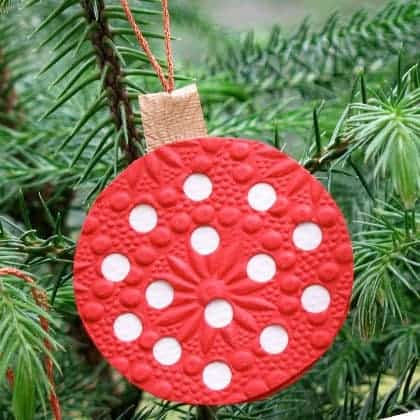 Minnie Polka Dot Ornament