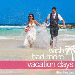 Wordless Wedding Wednesday: Wish I Had More Vacation Days