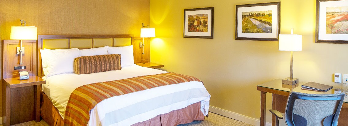 American Craftsman Style Hotel Abrego Monterey CA guest room