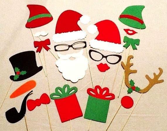 DIY Christmas Photo Booth Props