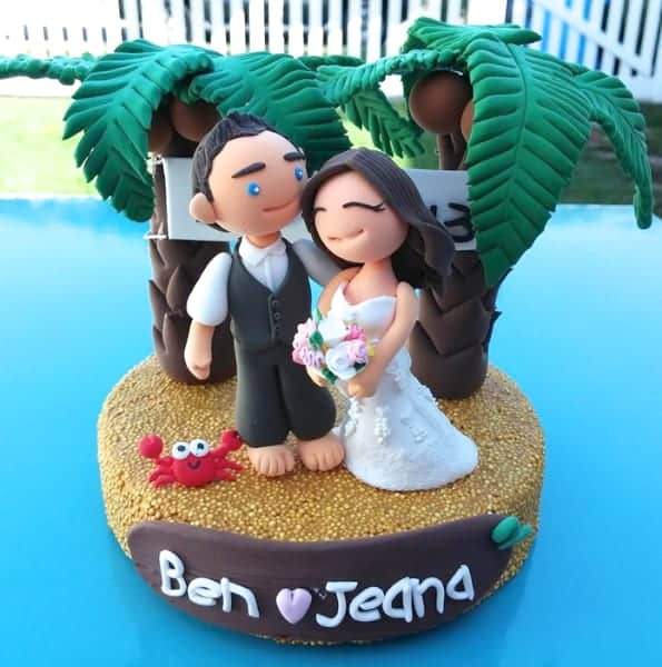 crayola model magic custom wedding cake topper