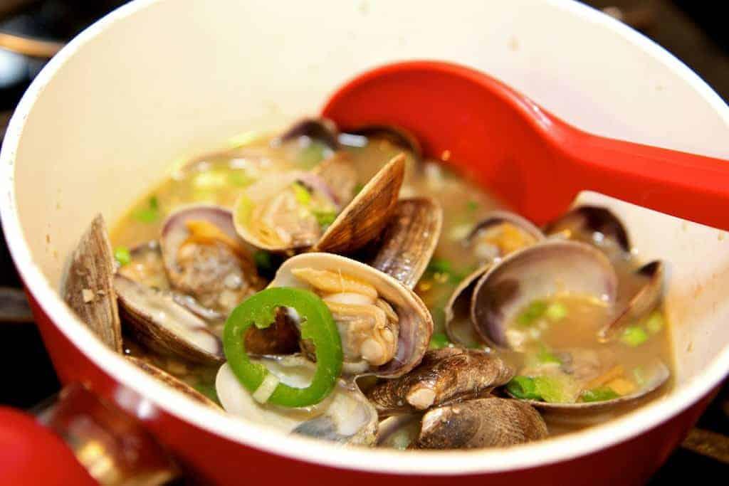 garlic steamed clams recipe (1)