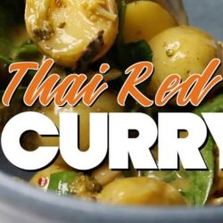 Slow Cooker Thai Red Curry Recipe (Vegetarian)