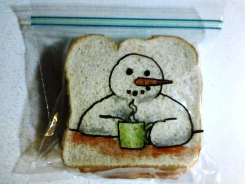cute  sandwich bag drawing