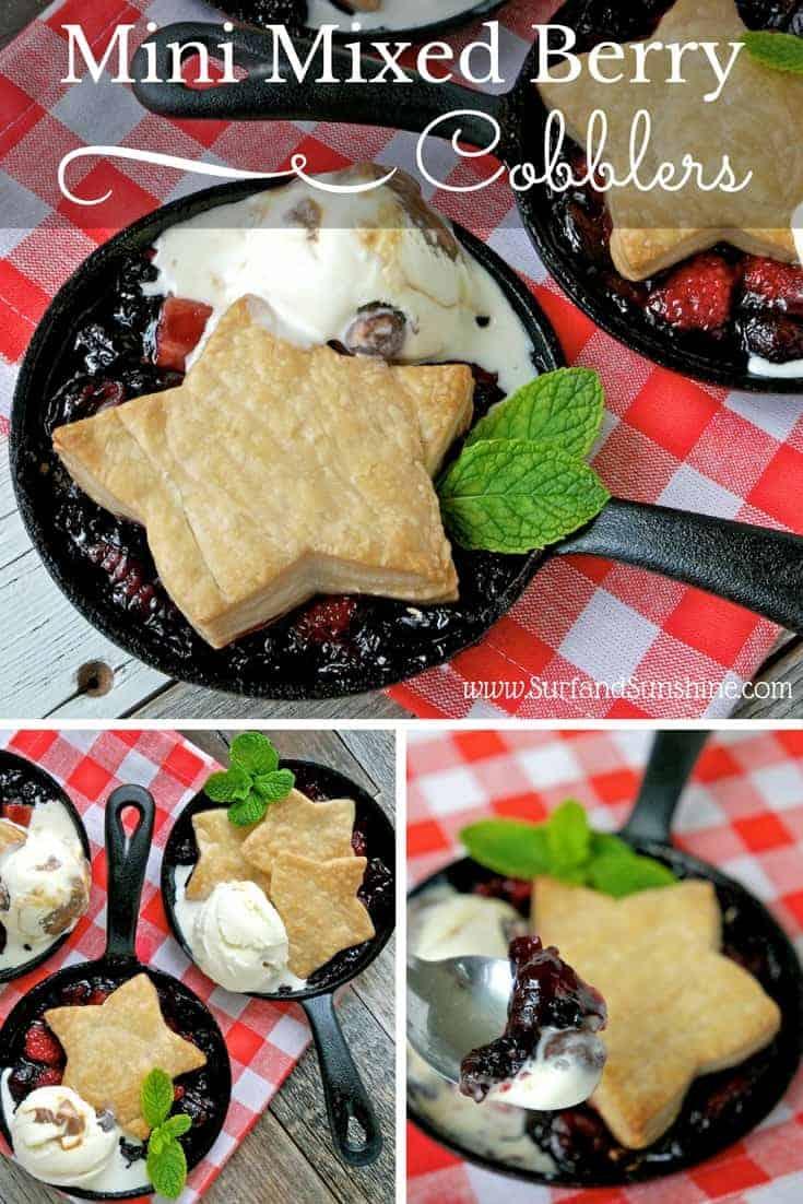 mini mixed berry cobbler recipe