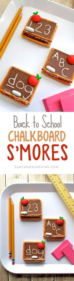 Make Back To School special this year with themed a Chalkboard S\'mores #recipe that everyone will love!