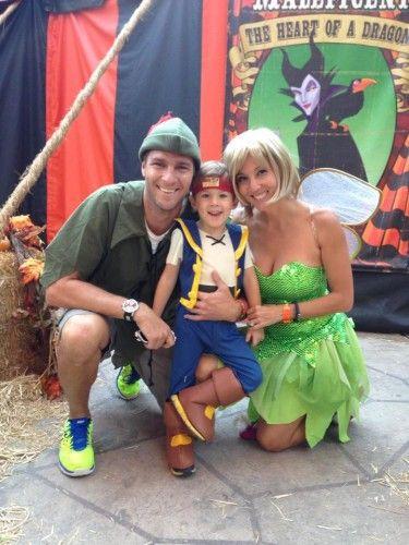 disney family halloween costume peter pan tinkerbell