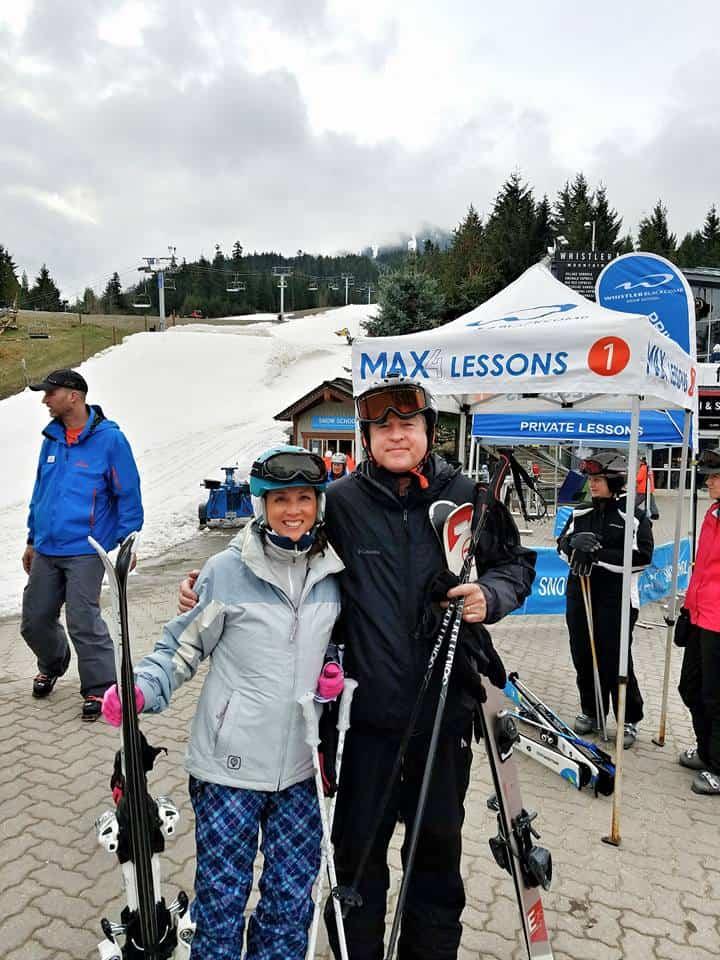 jeana and dad whistler ski