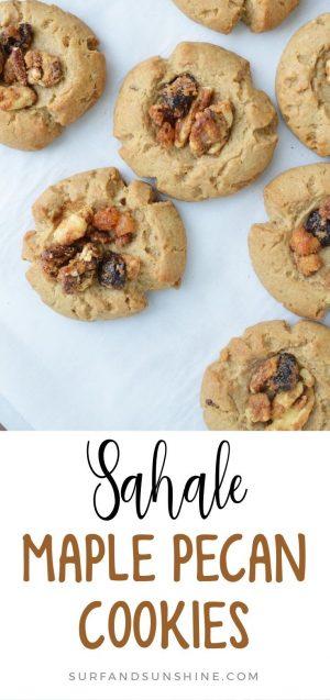 sahale maple pecan cookies recipe pinterest
