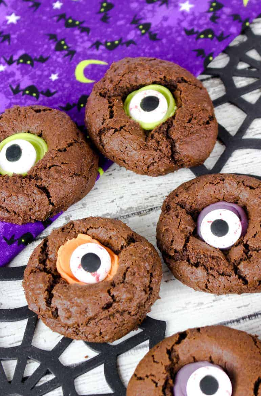 halloween treat recipes monster eye cookies