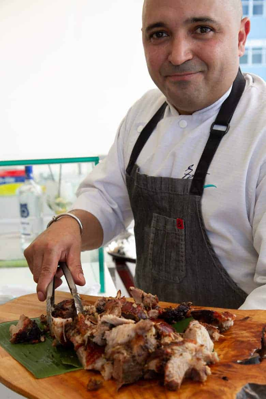 Chef Raul Correa with Pernil Adobo
