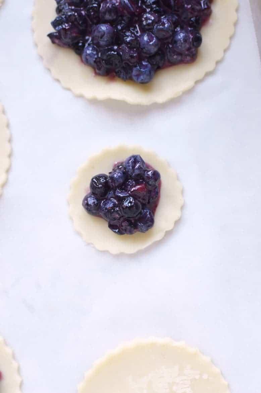 hand made blueberry mini pies recipe 5