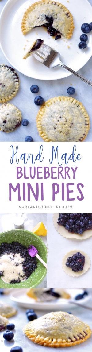 hand made blueberry mini pies recipe
