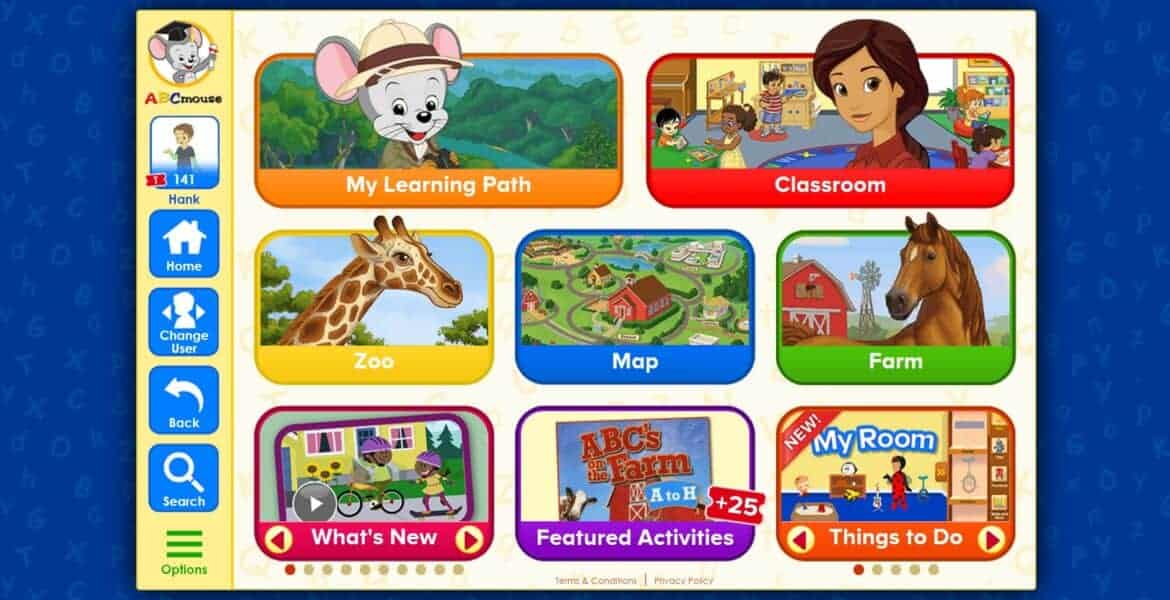 ABC mouse 2 - Rainy Day Activities to Keep Kids Busy and Mom Hands Free