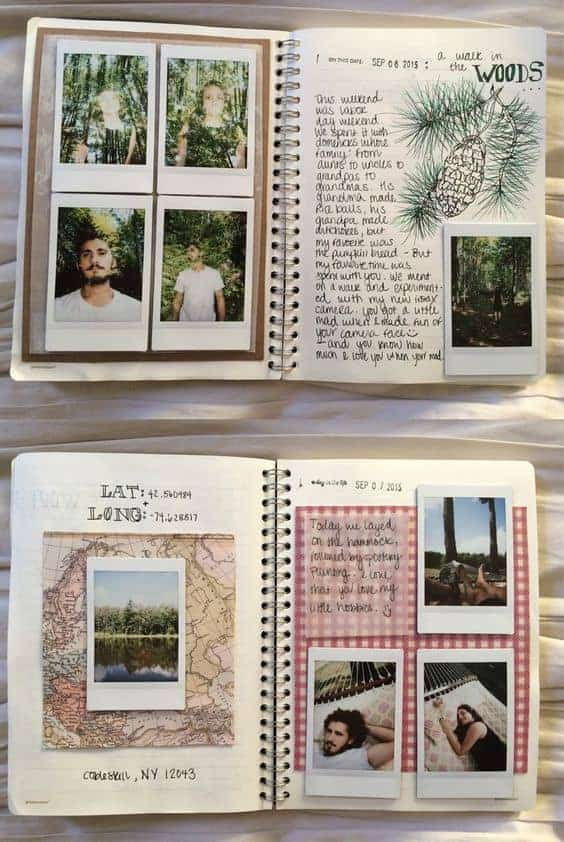 Cute Polaroid pictures and Polaroid picture ideas travel journal