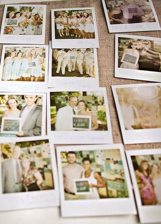 Polaroid Picture Idea: Wedding Guest Book