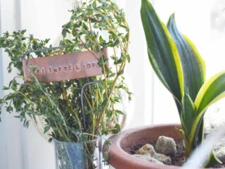 Beautifully Rustic Hand Stamped Metal Plant Markers