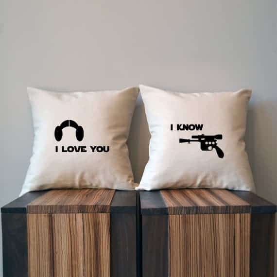 I love you I know Star Wars Pillow Cover Set