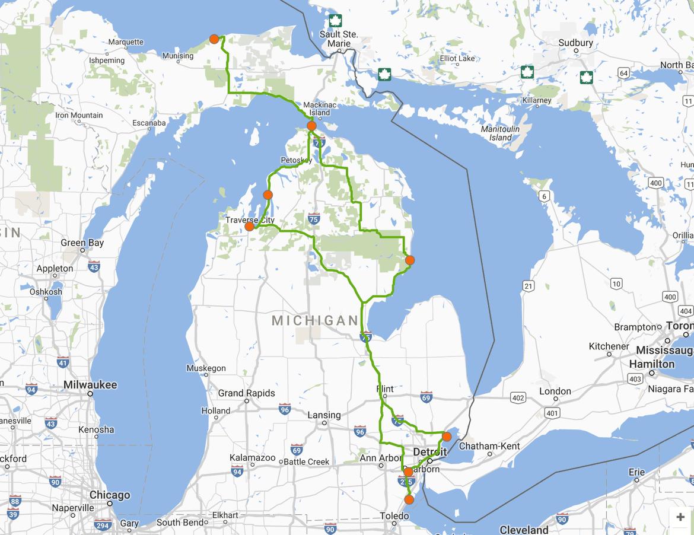 Lakes to visit in Michigan