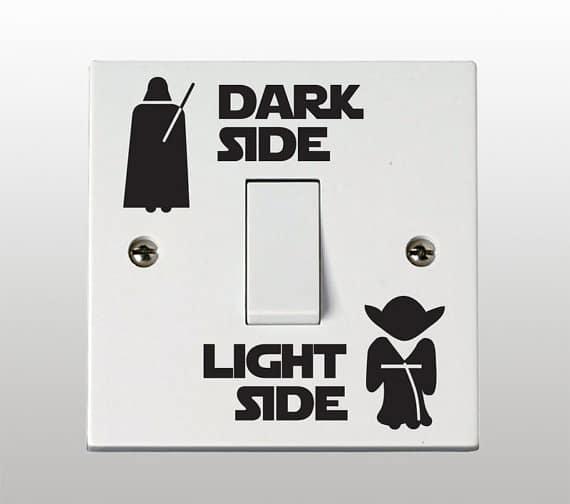 Star Wars Dark Side light Side Light Switch