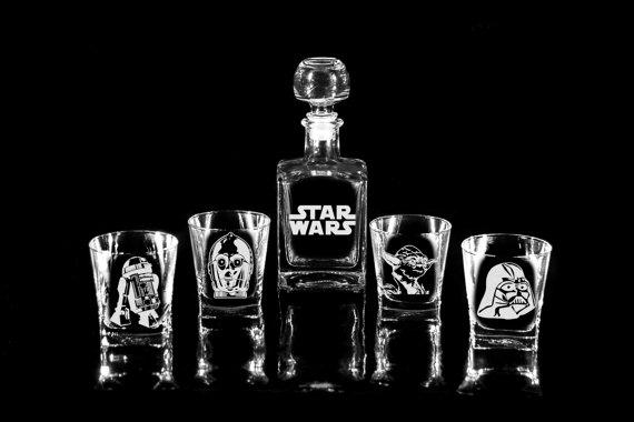 Star Wars Glass Whiskey Decanter Set