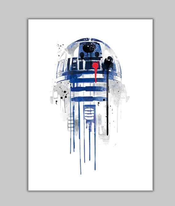 Water color R2D2