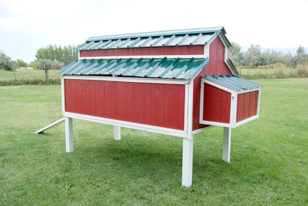 Free DIY Chicken Coop Plans for a barn style chicken coop
