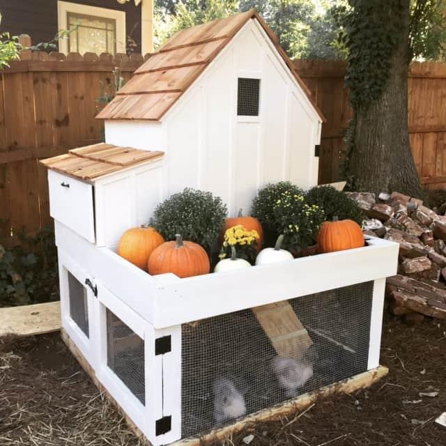 Split level chicken coop plans with storage area. Free DIY Chicken Coop Plans.