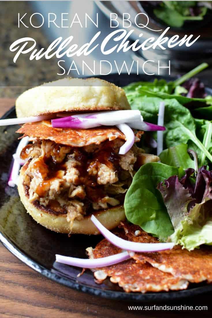 korean bbq sandwich pulled chicken recipe