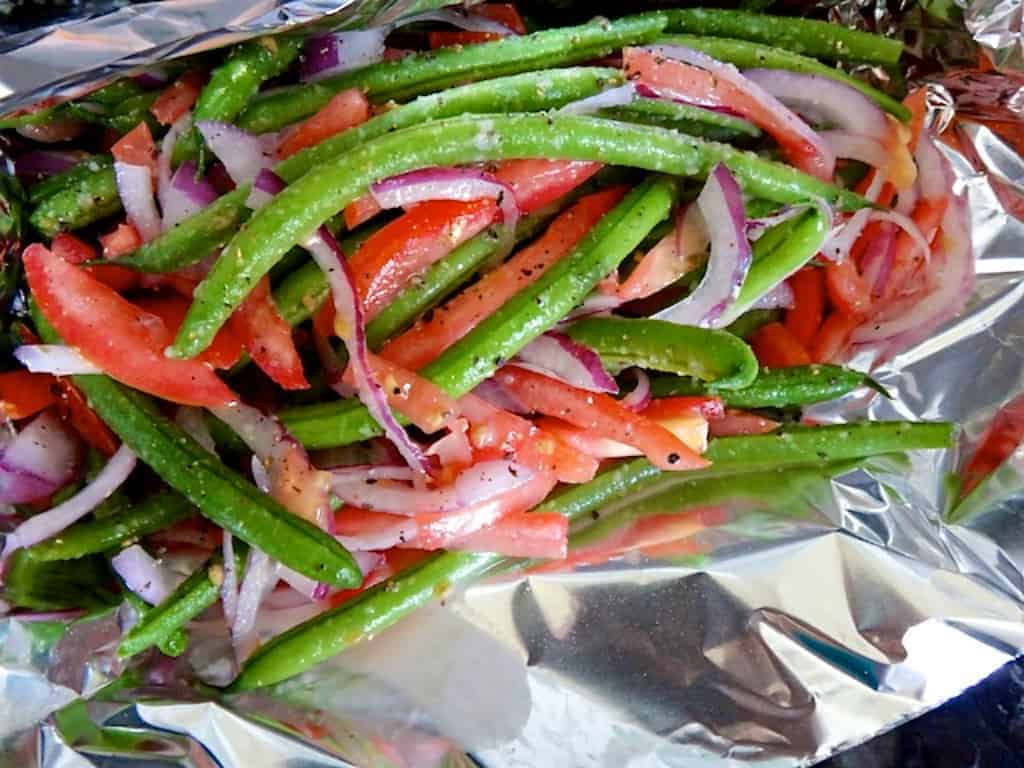 beer and garlic grilled green beans recipe