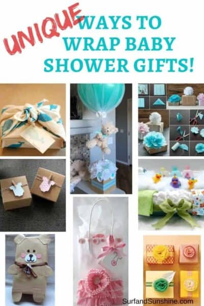 Ways to wrap baby shower gifts