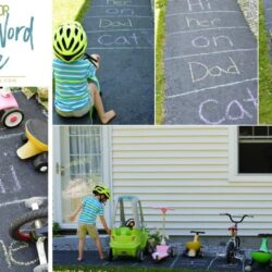 An Active DIY Sight Word Game to Play Outdoors with Your Kids