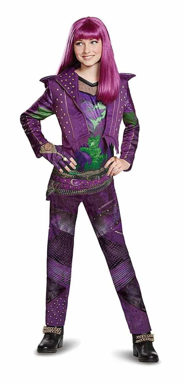 Descendants Halloween Costume Ideas Evie costume with jacket tunic and leggings