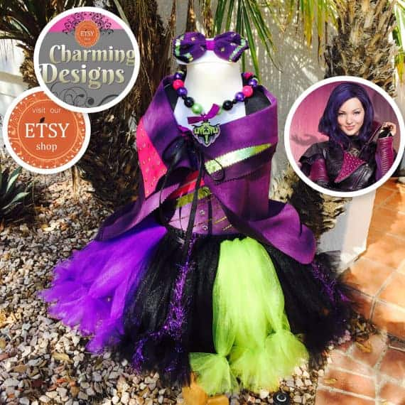 Descendants Halloween Costume Ideas Mal Inspired Tutu Dress