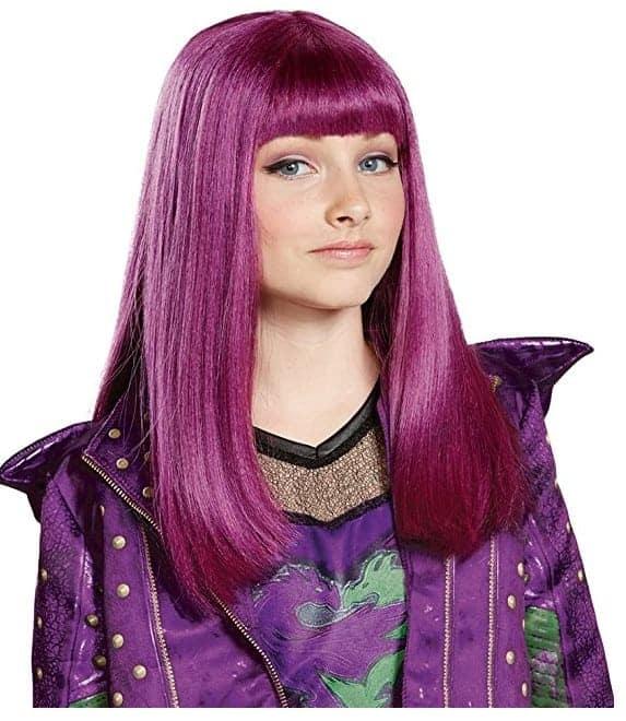 Descendants Halloween Costume Ideas Hot Pink Mal Wig