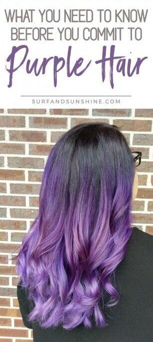 Dying my hair purple