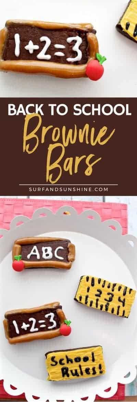 back to school brownie bars pinterest