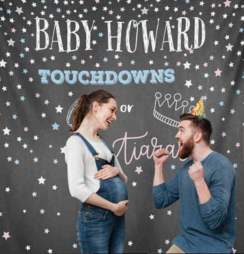 baby gender party reveal photography backdrop