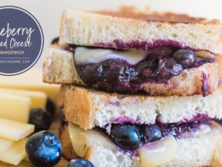 Grilled Cheese With Blueberries Sandwich Recipe-15