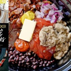 Crock Pot Kielbasa and BBQ Baked Beans Slow Cooker Recipe