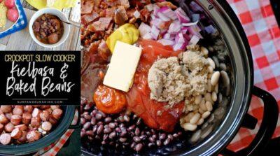 crockpot kielbasa and bbq baked beans recipe twitter