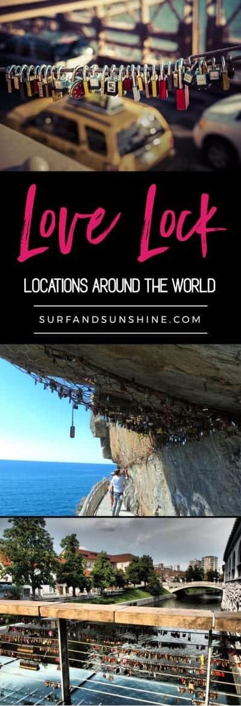 love lock locations around the world