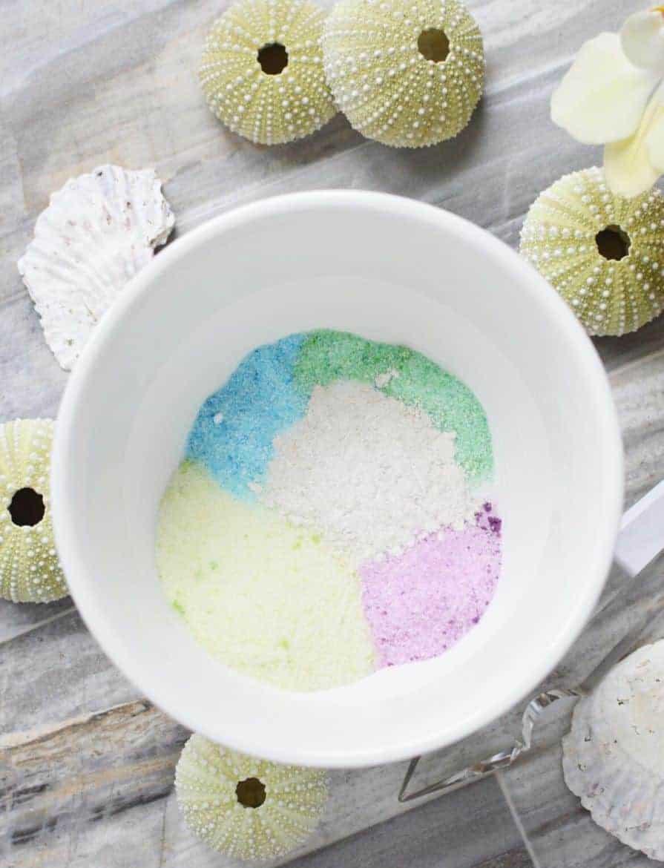 DIY unicorn sugar scrub
