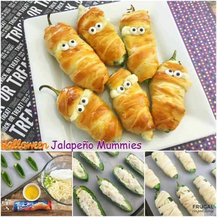 Halloween Jalapeño Mummies fb collage frugal coupon living e1470169651811 - 20 of the Best Recipes for Your Halloween Party