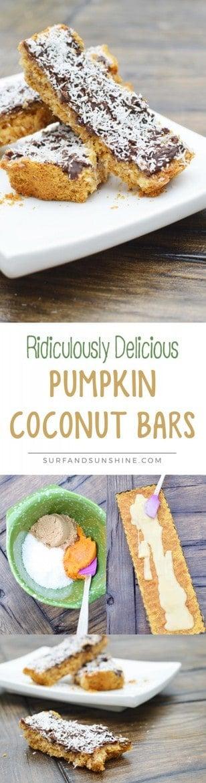 Pumpkin Coconut Bars Recipe