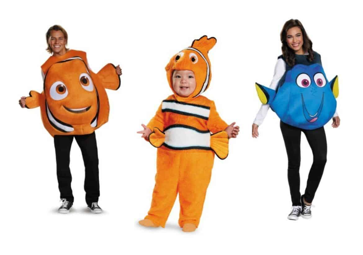 nemo adult fish costume collage - Check Out These 22 Amazing Family Halloween Costume Ideas