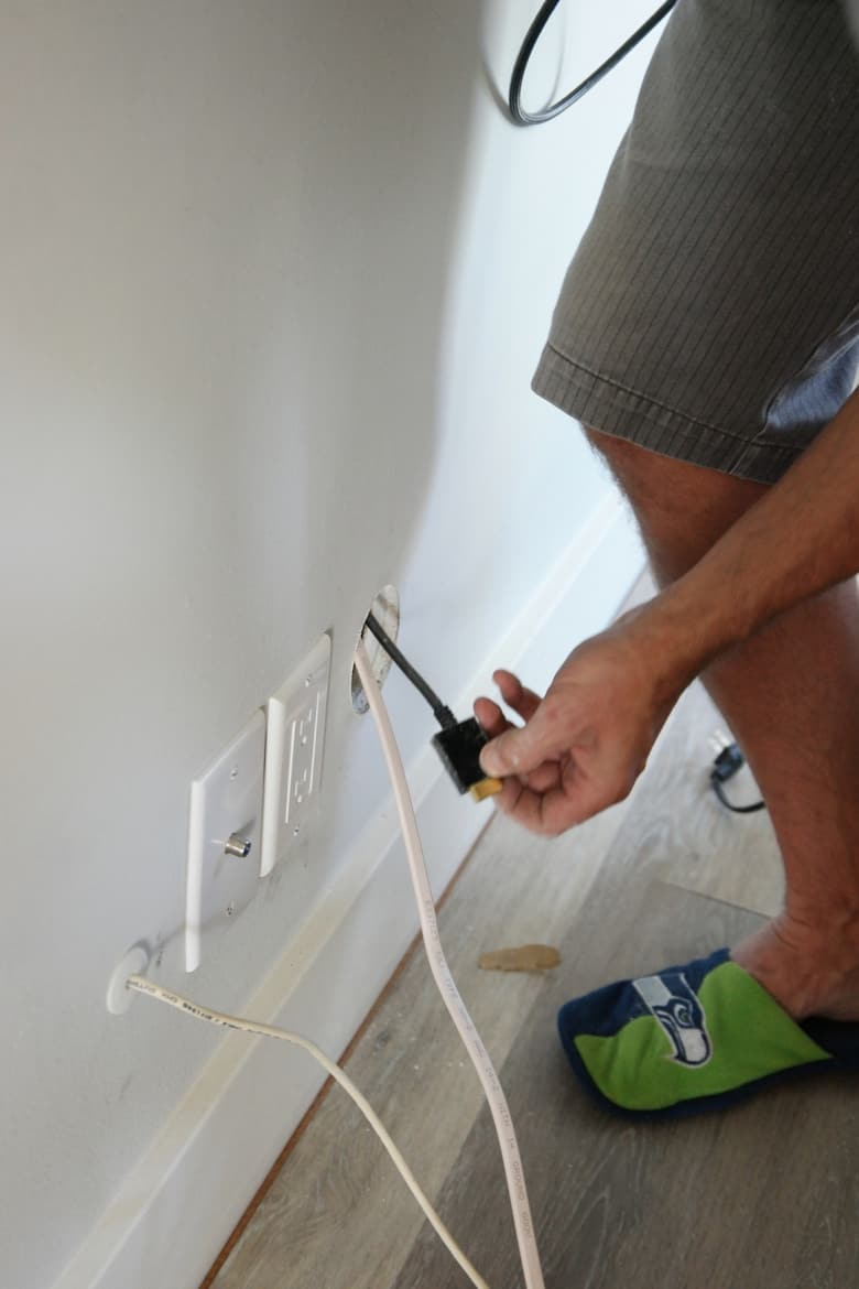 How To Easily Hide Those Ugly Tv Cable Wires Surf And Sunshine Wiring Behind Wall Diy In Management System