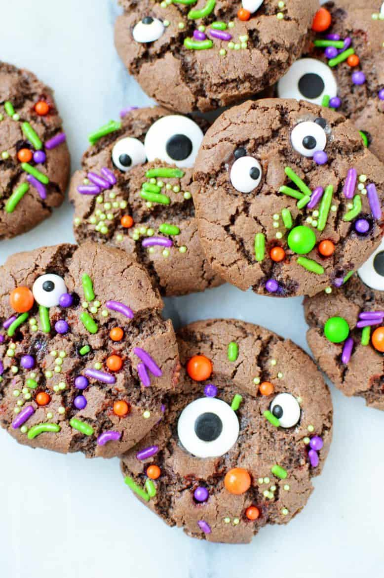 chocolate halloween monster cookies recipe