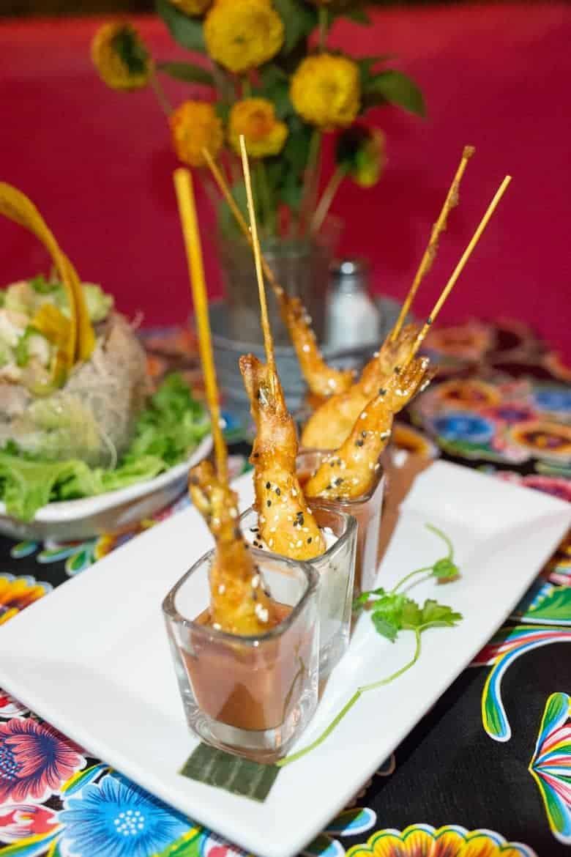 Coyote Cafe Shrimp Skewers