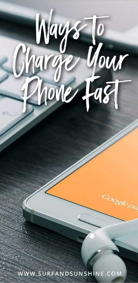 ways to charge your phone fast